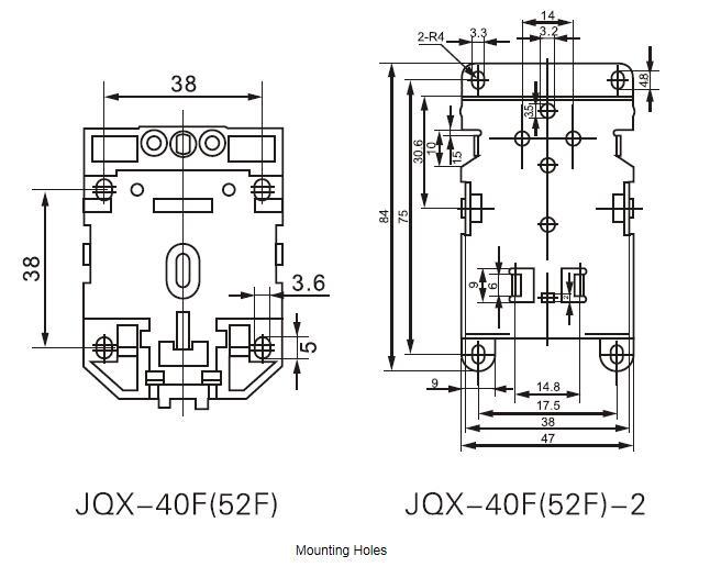 Power relay JQX-40 50A dimension 2.jpg